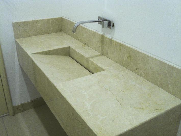 cuba esculpida  Comprando Meu Apê -> Cuba Escupida Banheiro