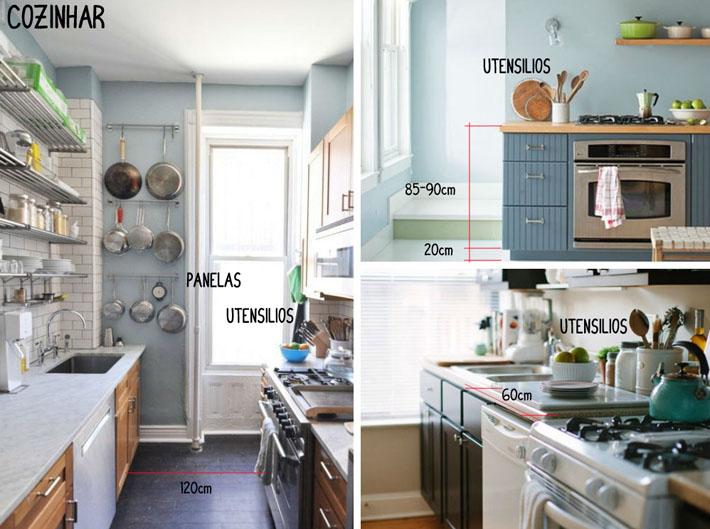 Pergunte ao Arquiteto #9  Qual a altura ideal para móveis na cozinha?  Comp # Altura Minima De Bancada De Cozinha