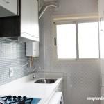 Divisória de vidro da minha cozinha/lavanderia