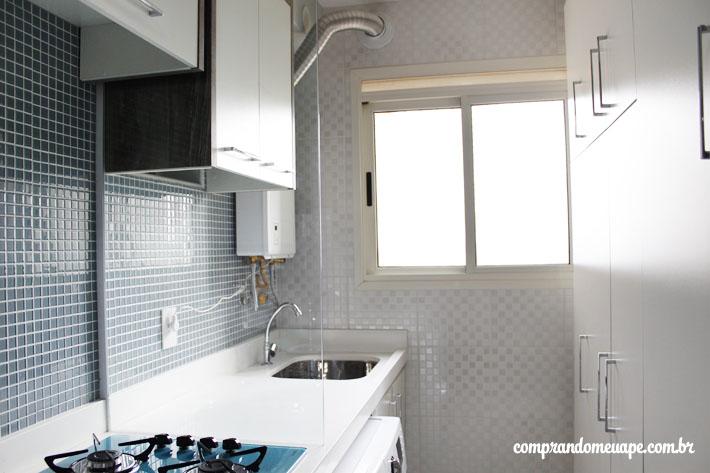 Populares Divisória de vidro da minha cozinha/lavanderia | Comprando Meu Apê BG17
