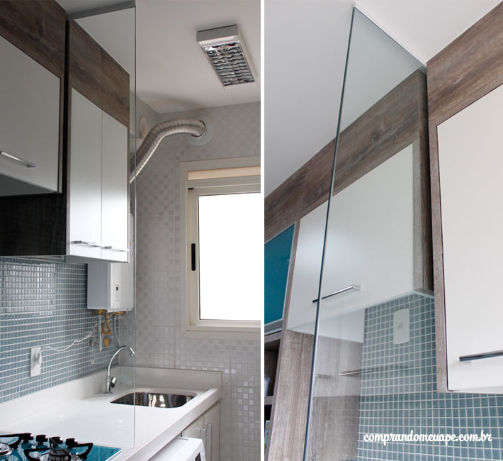 Amado Divisória de vidro da minha cozinha/lavanderia | Comprando Meu Apê IJ74