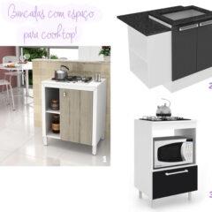 Cozinha | Bancadas para cozinhar e fazer refeições