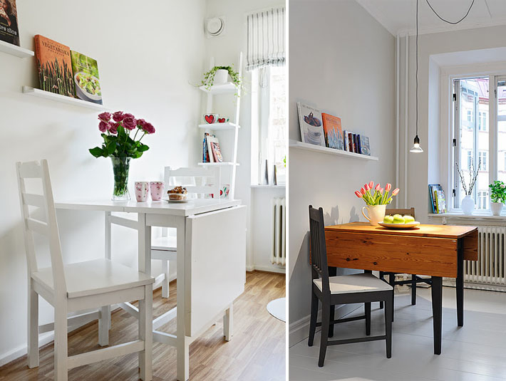 Mesas para cozinhas ou salas de jantar pequenas for Mesas para ordenador pequenas
