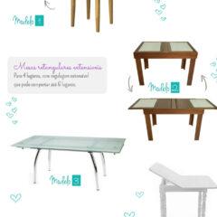Mesas para cozinhas ou salas de jantar pequenas