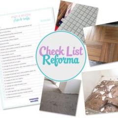 Check list | Reforma de apartamento