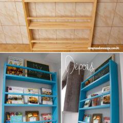 Estante colorida da cozinha | DIY