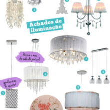 Achados de iluminação | Luminárias e pendentes românticos