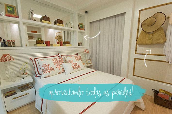 decoracao de apartamentos pequenos quarto casal:Quartos pequenos: como decorar?
