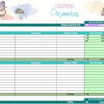 Planilha de gastos e orçamentos | Casamento