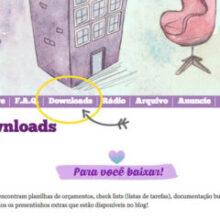 A página de Downloads do blog ficou pronta!