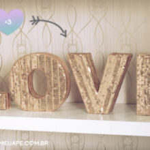 DIY: Decor (Letras douradas)