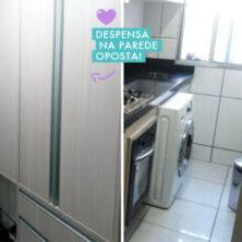 Apartamento da leitora Claudia | Antes e Depois da cozinha corredor
