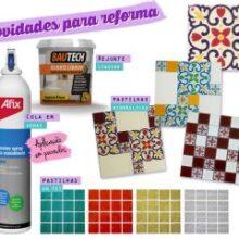 Cola spray para parede, ladrilhos hidráulicos e pastilhas PET