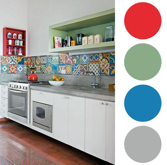 Aparador Mdf Cru ~ Combinações de cores para cozinhas Comprando Meu Ap u00ea