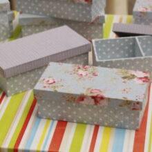 Convites dos padrinhos | Caixa MDF com tecido