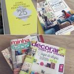 Meus livros e revistas de decoração