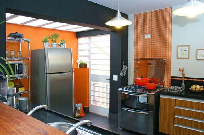 parede laranja