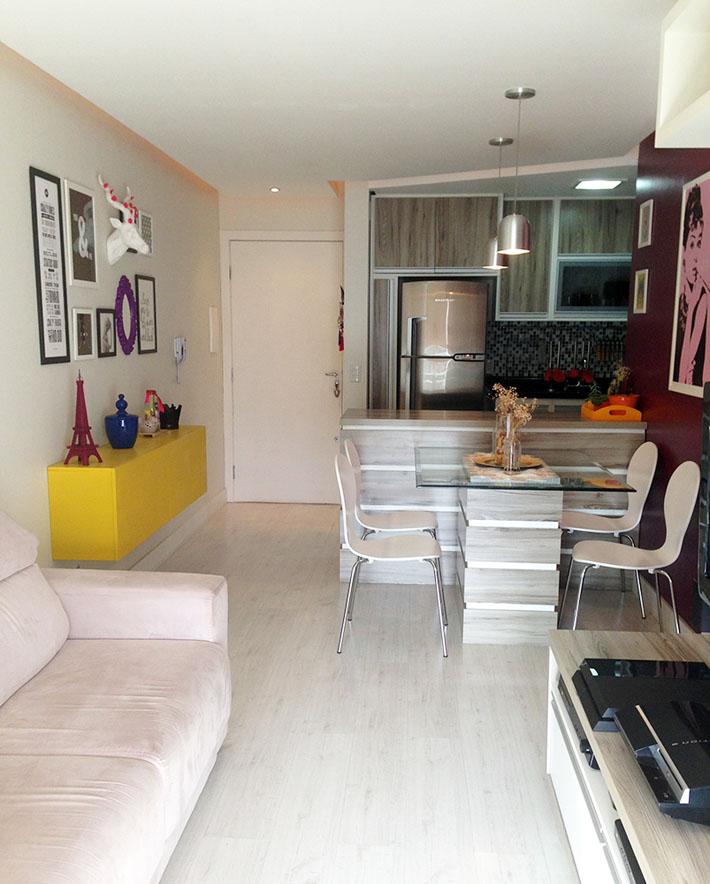 Apartamento da leitora decora o pop e moderna for Pisos pintados modernos