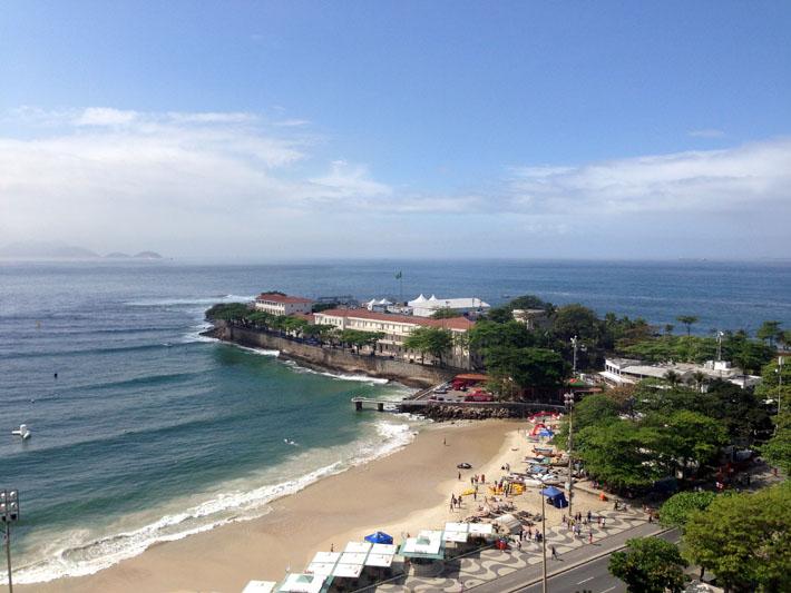 Final da praia de Copacabana