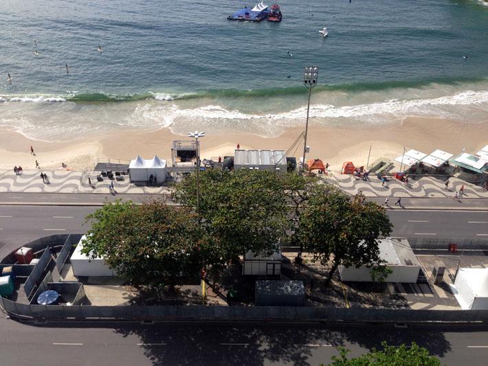 Vista do hotel para a praia de Copacabana