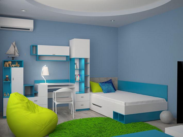 C rculo crom tico na decora o da casa comprando meu ap for Blue and green boys bedroom ideas