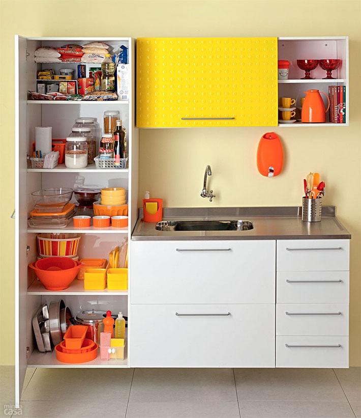 Organização de armário de cozinha (Despensa)