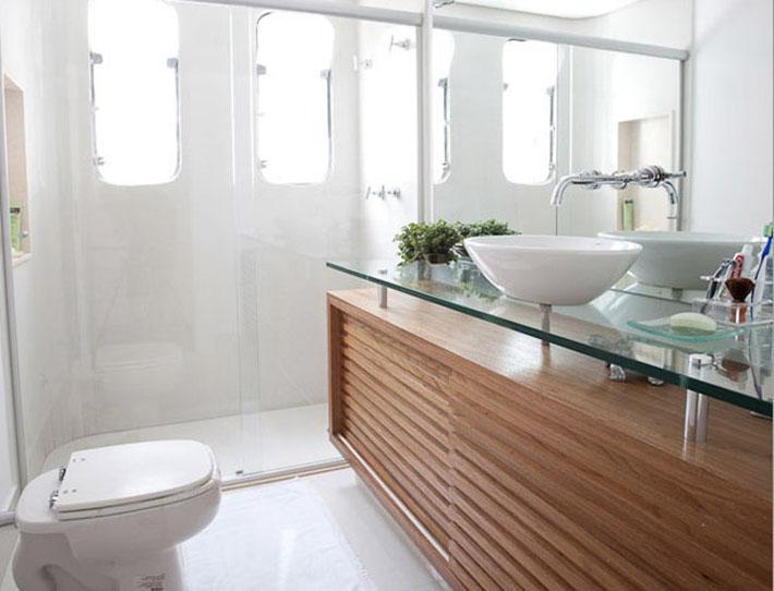 Decoração com Vidro temperado e Vidro laminado  Comprando Meu Apê -> Cuba Para Banheiro Com Bancada De Vidro