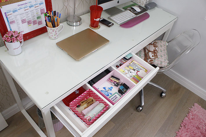 Organização e faxina no escritório e cômoda