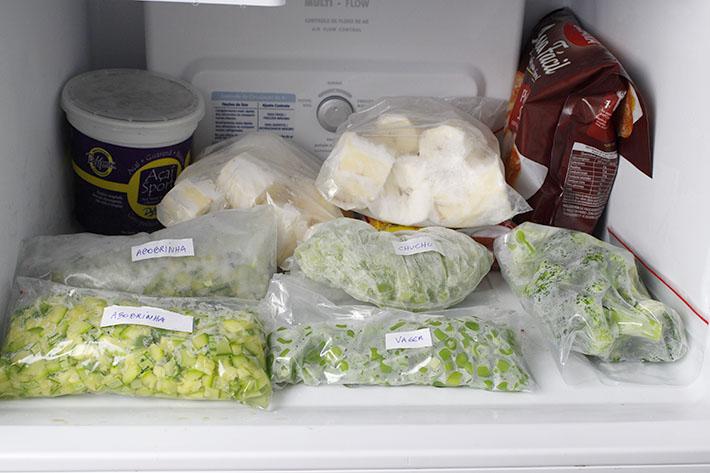 Como congelar vegetais