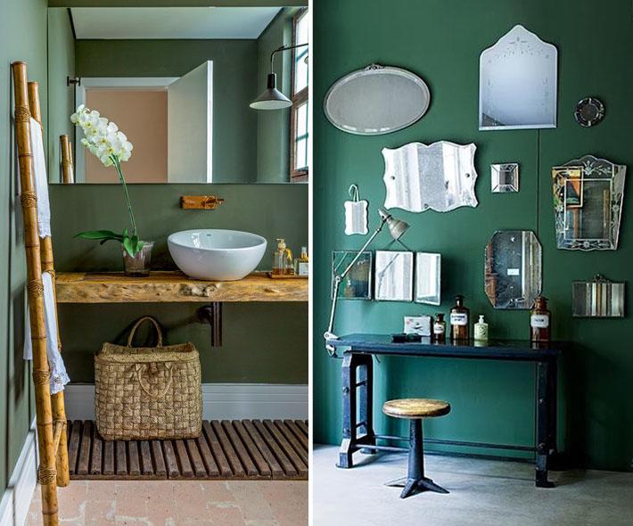 Verde militar nas paredes pintura e revestimentos - Paredes en verde ...