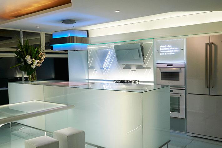 Eletrodomésticos de vidro branco (Brastemp Vitreous)