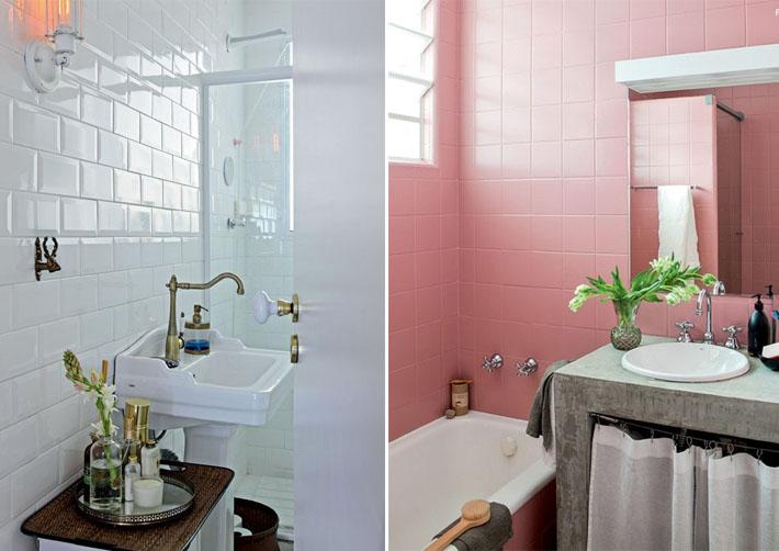 Tinta epóxi para piso e azulejo  Banheiro e Cozinha  Comprando Meu Apê -> Banheiro Pequeno Pintado