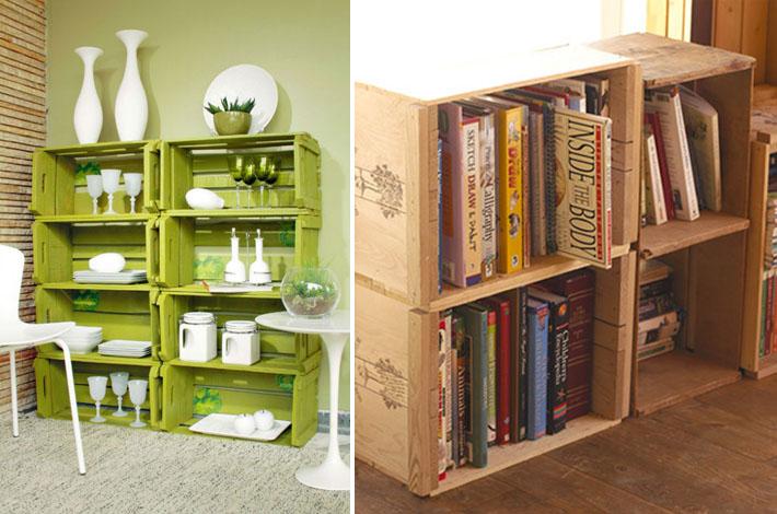ideias para decorar com pallet e caixotes comprando meu ap. Black Bedroom Furniture Sets. Home Design Ideas