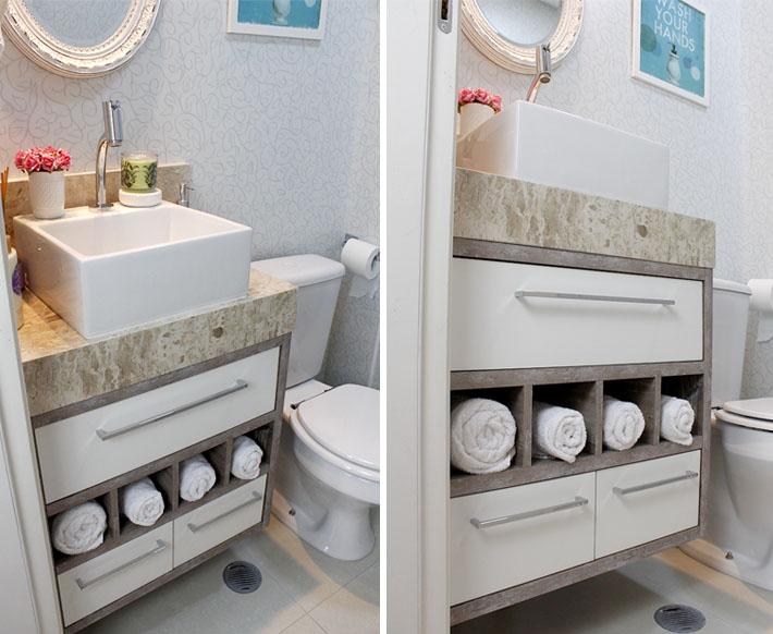 Armário do lavabo (banheiro social)
