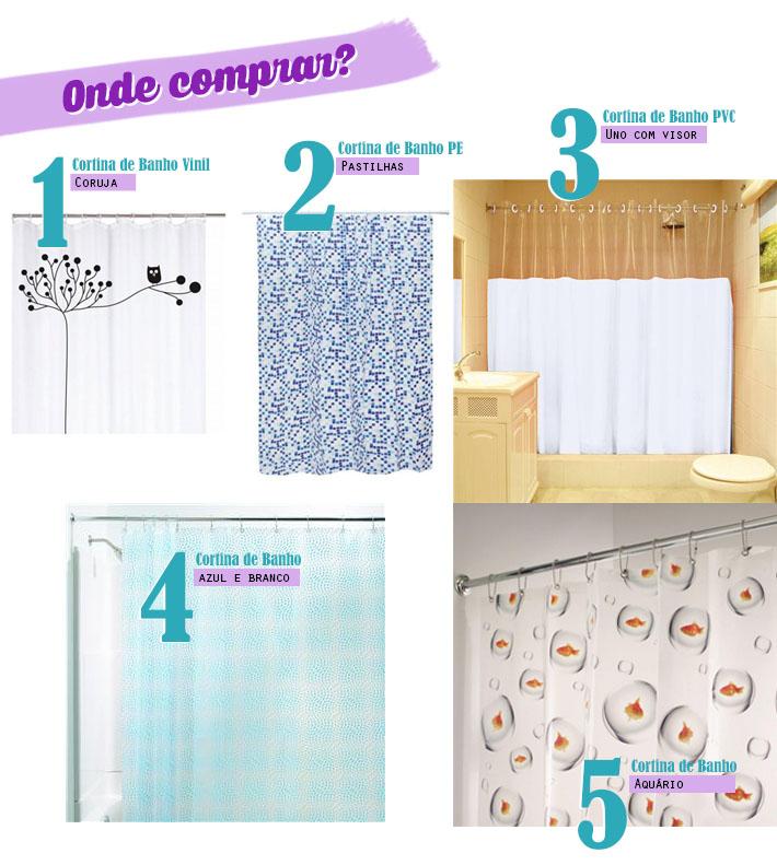 Onde comprar cortina pra box