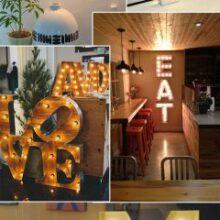 Letras luminosas para decorar a casa