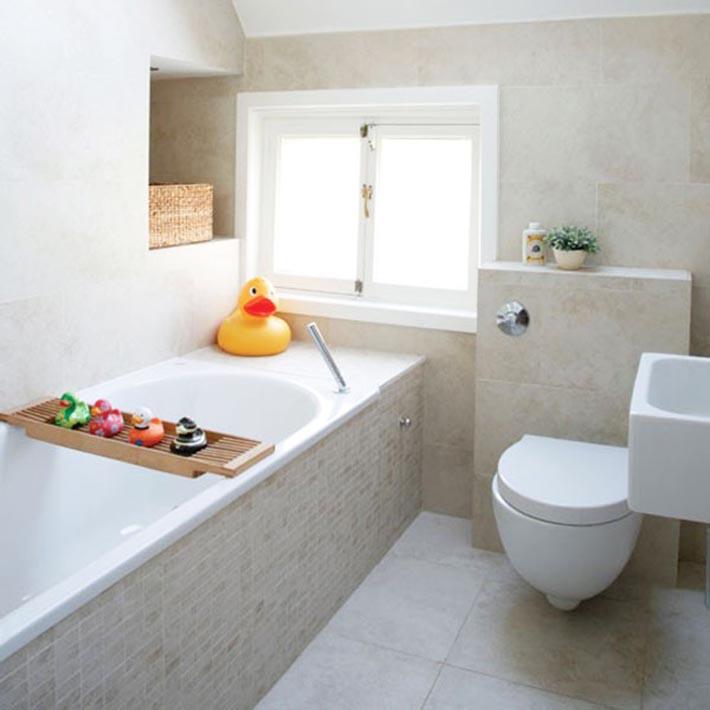 Banheiro minimalista com aplicação de pastilhas!