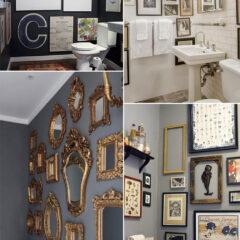 Como fazer mosaico de quadros no lavabo
