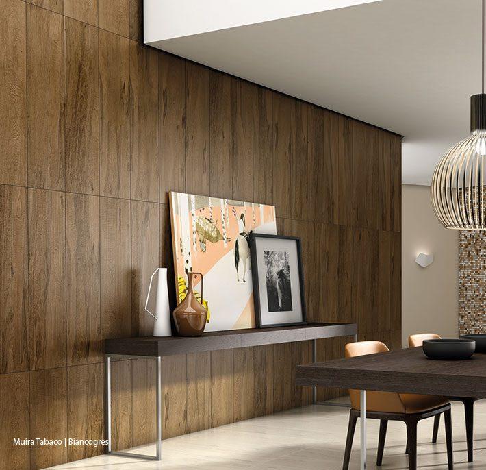 Porcelanato madeira parede