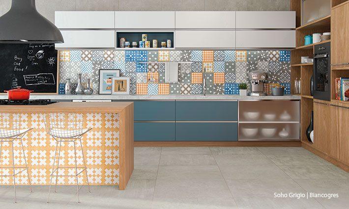 Porcelanato de cozinha