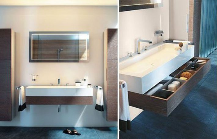 Organização de armário de banheiro