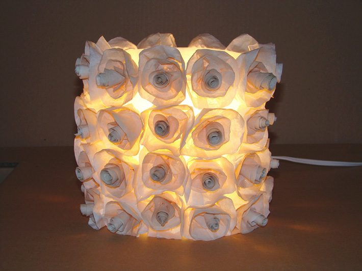 Luminárias recicladas