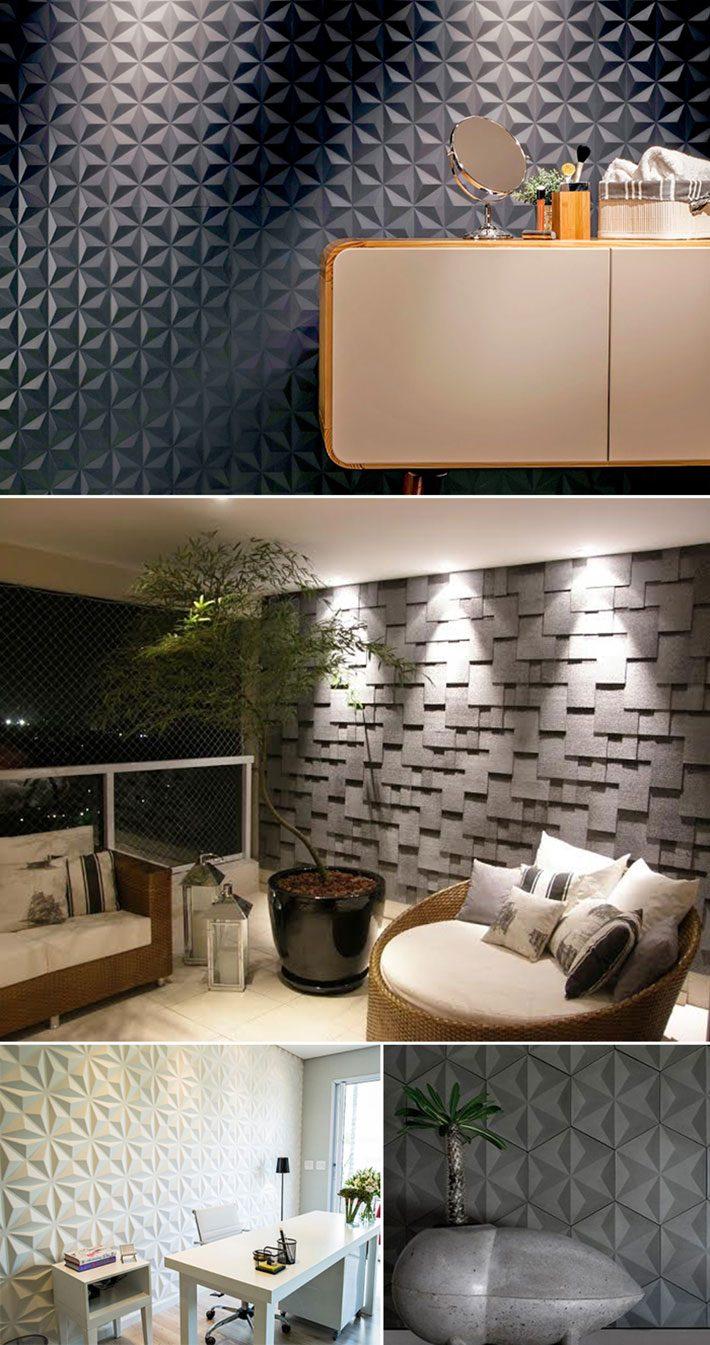 Revestimento 3D em paredes