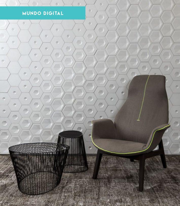 Revestimentos de parede hexagonal | Coleção Pixel