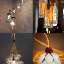 15 Luminárias recicladas para você se inspirar