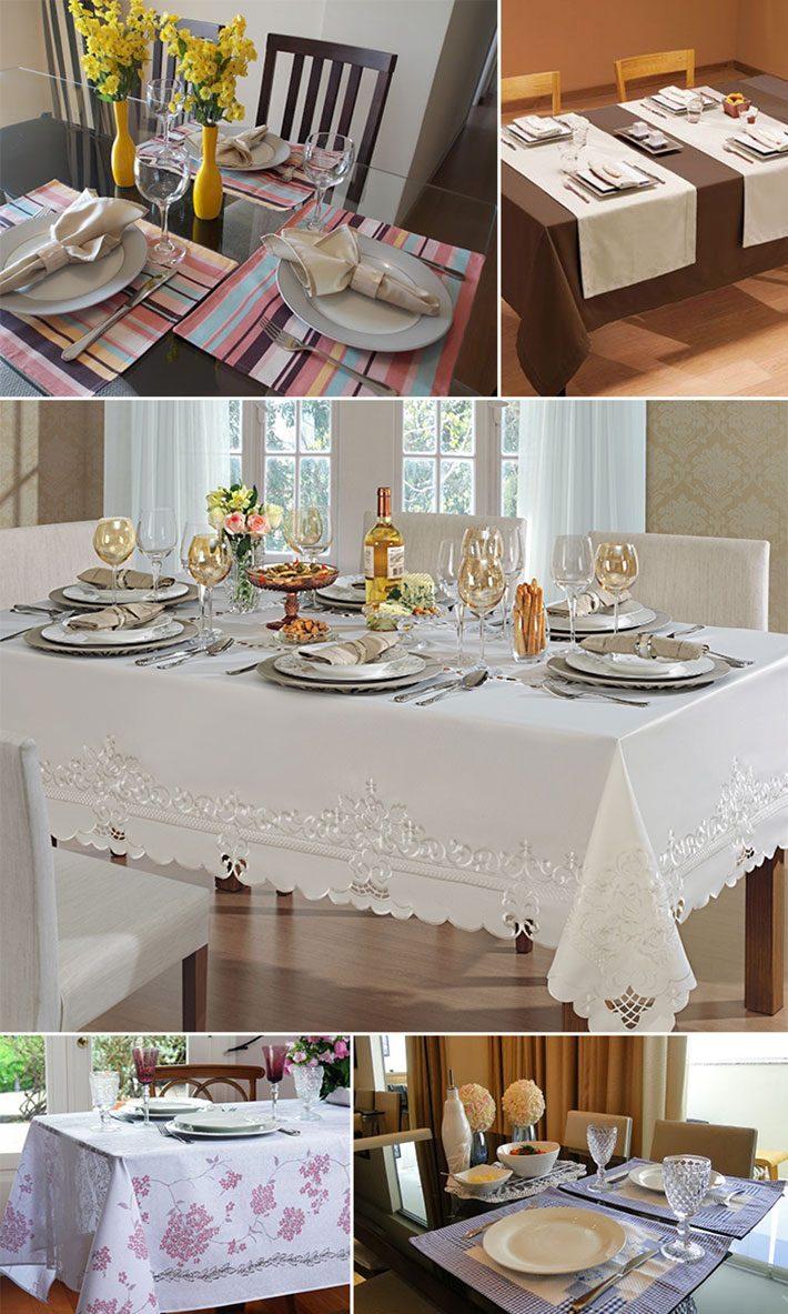 Mesa posta para o jantar