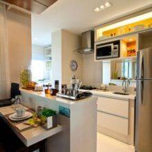 Instalações elétricas e a gás para eletrodomésticos da cozinha