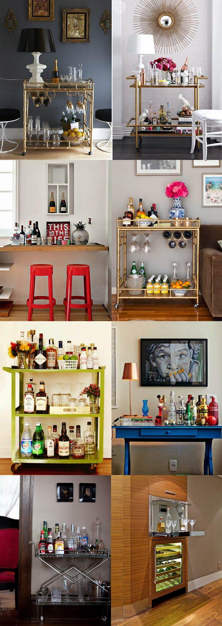 Mini-bar para apartamentos pequenos