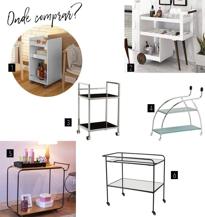Minibar para apartamentos pequenos