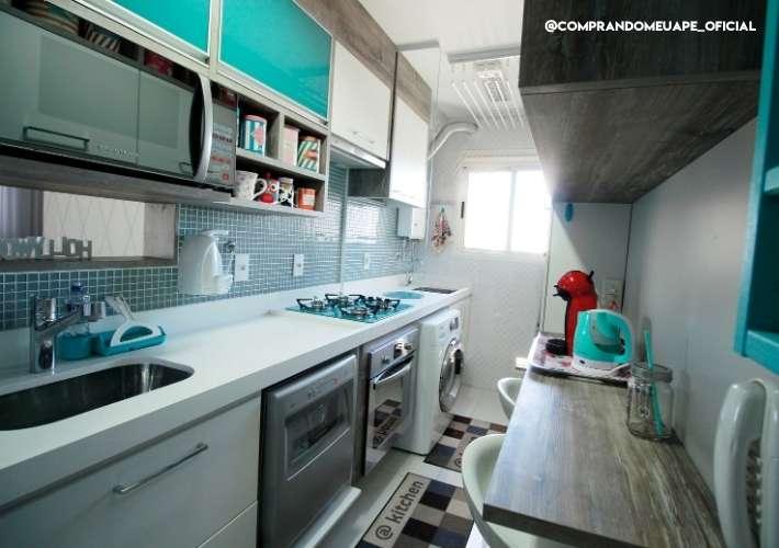 cozinha apartamento pequeno bruna dalcin